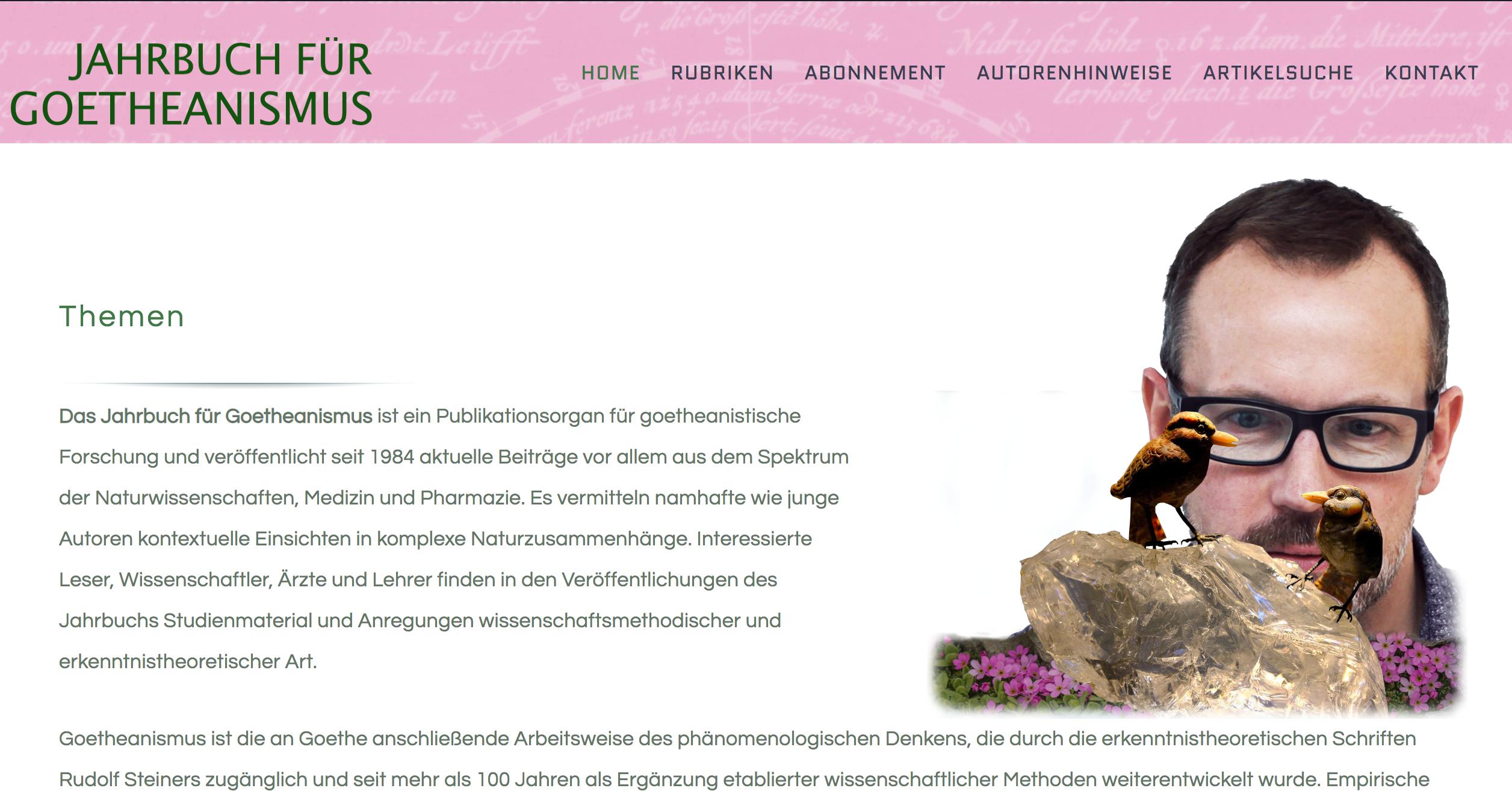 Das Jahrbuch für Goetheanismus -Germany